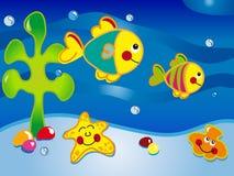 paysage marin de dessin animé Images libres de droits