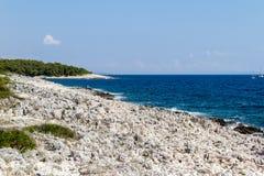 Paysage marin de Hvar Photographie stock libre de droits