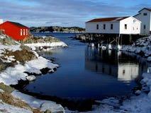 Paysage marin de l'hiver Photos libres de droits