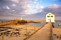 Paysage marin de la Bretagne (Frances) Images stock