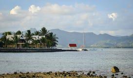Paysage marin de Le Morne à l'été en Îles Maurice Photos libres de droits