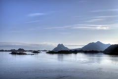 Paysage marin de Lofoten photos libres de droits