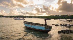 Paysage marin de Mauritius Island Image libre de droits