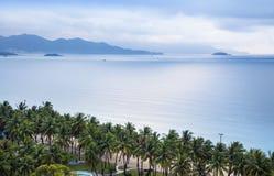 Paysage marin de Nha Trang, Vietnam. Photographie stock libre de droits
