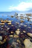 Paysage marin de pêche Photo stock