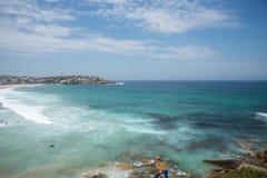 Paysage marin de plage de Bondi Photographie stock libre de droits