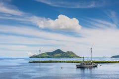 Paysage marin de port de Victoria, Mahe Island, Seychelles Photos stock