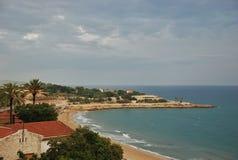 Paysage marin de Tarragone de l'Espagne Photo libre de droits
