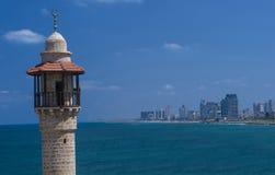 Paysage marin de Tel Aviv images libres de droits