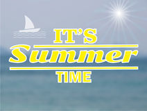 Paysage marin de vecteur Fond de tache floue d'été Photographie stock libre de droits