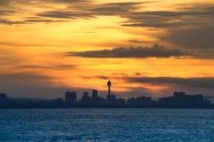 Paysage marin de ville de Pattaya pendant le matin, Thaïlande Images stock