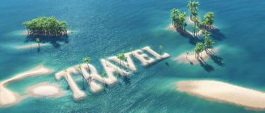 Paysage marin des îles Photos libres de droits