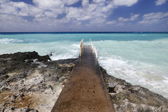 Paysage marin des Caraïbes photographie stock