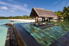 Paysage marin des Maldives Photos stock