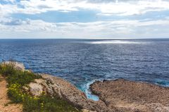 Paysage marin en Chypre Ayia Napa, Forest Park national photos stock