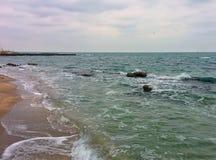 Paysage marin en mauvais temps Photo stock