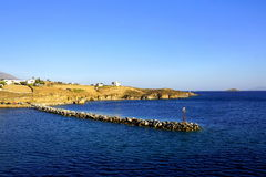 Paysage marin en mer Égée Photo libre de droits