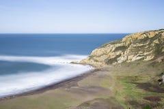Paysage marin en plage d'Azkorri, Biscay, Espagne Photo stock