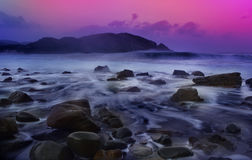 Paysage marin et roches Images libres de droits