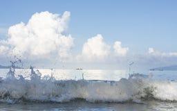 Paysage marin et vague Image libre de droits