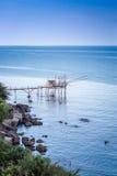Paysage marin : L'Italie, Abruzzo, S Vito Chietino Image stock