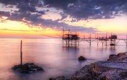 Paysage marin : L'Italie, Abruzzo, S Vito Chietino, côte d Photo libre de droits