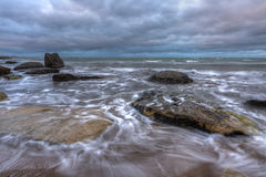 Paysage marin, mer avant la tempête Image stock