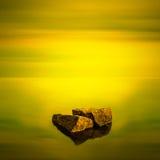 Paysage marin minimaliste. Images stock