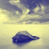 Paysage marin minimaliste. Photos stock