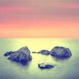 Paysage marin minimaliste. Photo stock