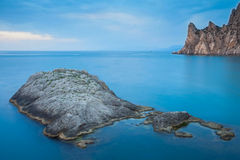Paysage marin minimaliste Photographie stock