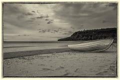Paysage marin noir et blanc Photographie stock libre de droits