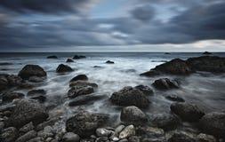 Paysage marin orageux Photographie stock