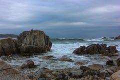 Paysage marin orageux Images libres de droits