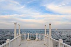 Paysage marin pendant le coucher du soleil dans l'Odesa de l'Ukraine Photographie stock
