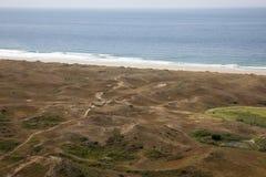 Paysage marin près de Biville dans Normady Photos libres de droits