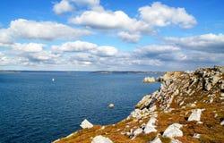 Paysage marin près de Crozon (Brittany, France) Photos stock