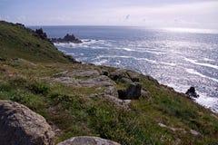 Paysage marin raboteux de littoral Photos libres de droits