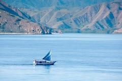 Paysage marin scénique d'île de Komodo (Indonésie) Photographie stock