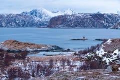 Paysage marin scénique dans Sommaroy, Norvège Photo libre de droits