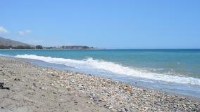 Paysage marin scénique outre de la mer Méditerranée, Espagne banque de vidéos