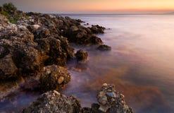 Paysage marin serein Photographie stock