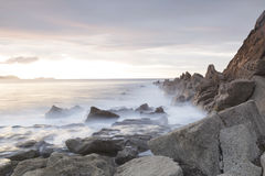 Paysage marin serein en plage d'Azkorri, Espagne Photo libre de droits