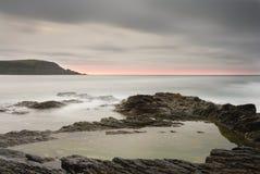 Paysage marin, vue au point de pas, Cornouailles. Photo libre de droits
