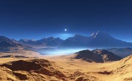 Paysage martien de désert Image libre de droits