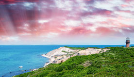 Paysage merveilleux de plage d'Aquinnah, Martha's Vineyard Photo libre de droits