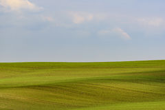 Paysage minimal onduleux de Moravian photos stock