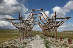 Paysage mongol de steppe Images stock