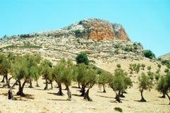 Paysage montagneux au Maroc images libres de droits
