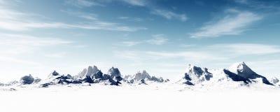 Paysage montagneux congelé glacial illustration libre de droits